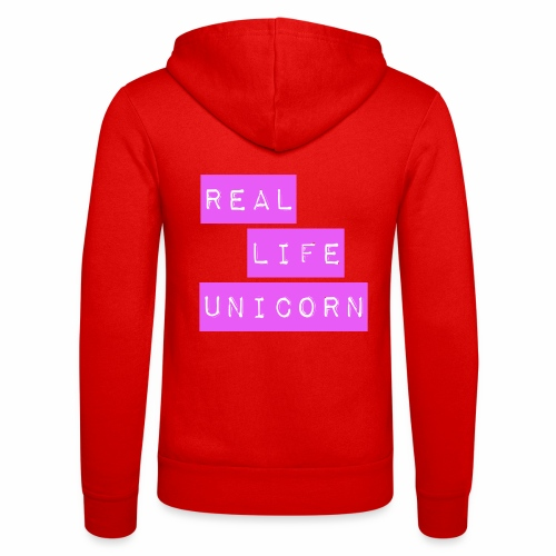 Real life unicorn - Unisex Hooded Jacket by Bella + Canvas