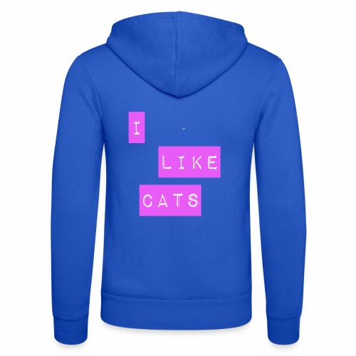 I like cats - Unisex Hooded Jacket by Bella + Canvas