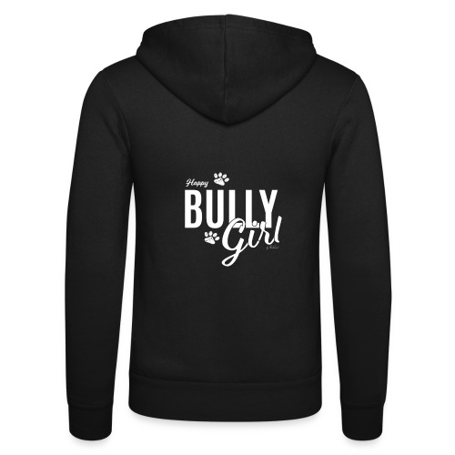 Happy Bully Girl - White Edition - Unisex Kapuzenjacke von Bella + Canvas