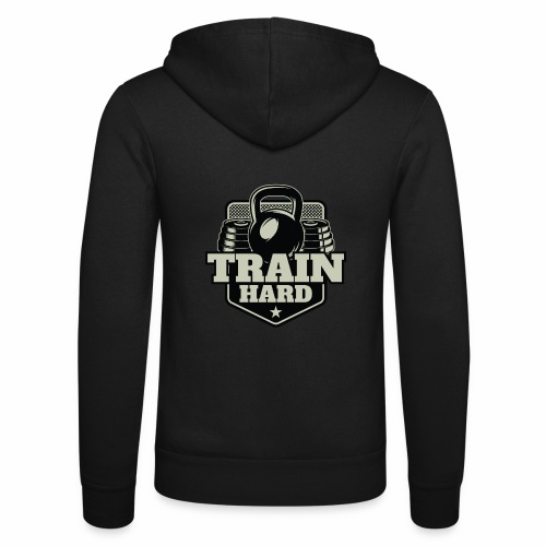 Train Hard - Unisex Kapuzenjacke von Bella + Canvas
