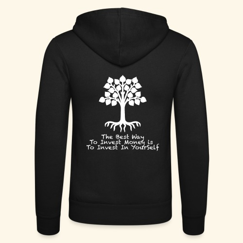 Printed T-Shirt Tree Best Way Invest Money - Felpa con cappuccio di Bella + Canvas