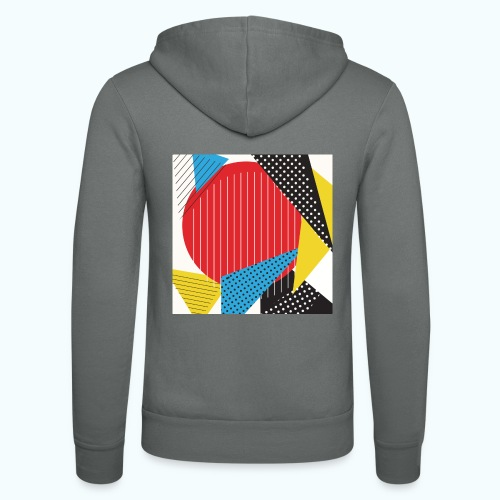 Geometry collage Abstract colors - Unisex Hooded Jacket by Bella + Canvas