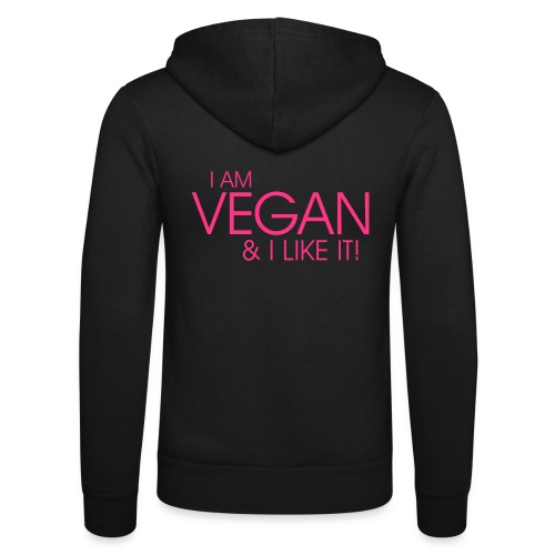 I am vegan and I like it - Unisex Kapuzenjacke von Bella + Canvas