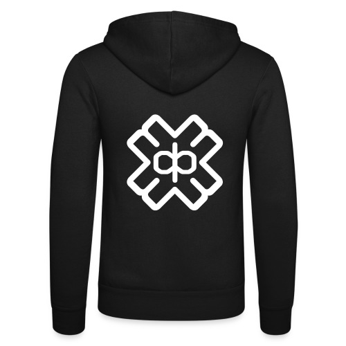 d3eplogowhite - Unisex Hooded Jacket by Bella + Canvas