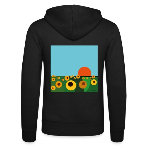 Sunflower - Unisex Hooded Jacket by Bella + Canvas