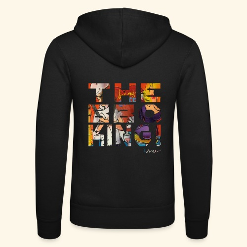 THE BBQ KING T SHIRTS TEKST - Unisex hoodie van Bella + Canvas
