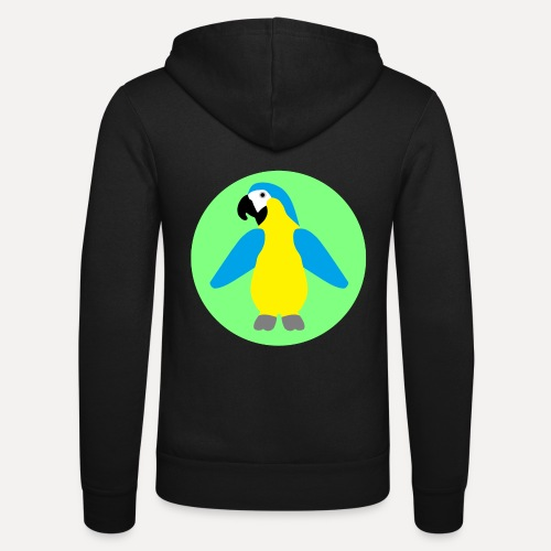 Yellow-breasted Macaw - Unisex Hooded Jacket by Bella + Canvas