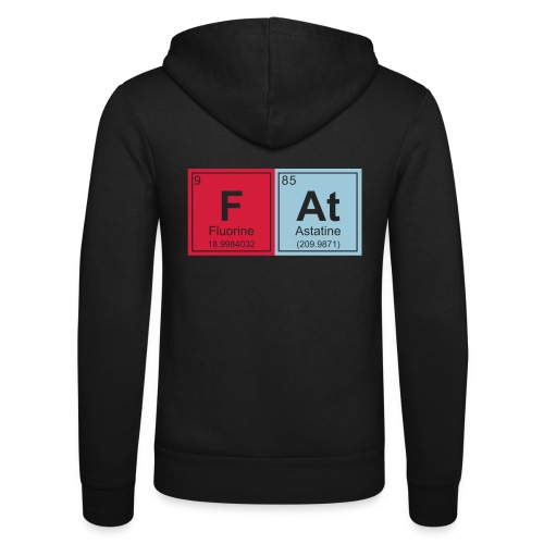 Geeky Fat Periodic Elements - Unisex Hooded Jacket by Bella + Canvas