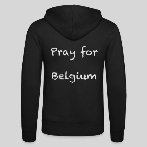 Pray for Belgium - Veste à capuche unisexe Bella + Canvas