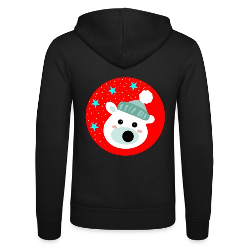 Winter bear - Unisex Hooded Jacket by Bella + Canvas