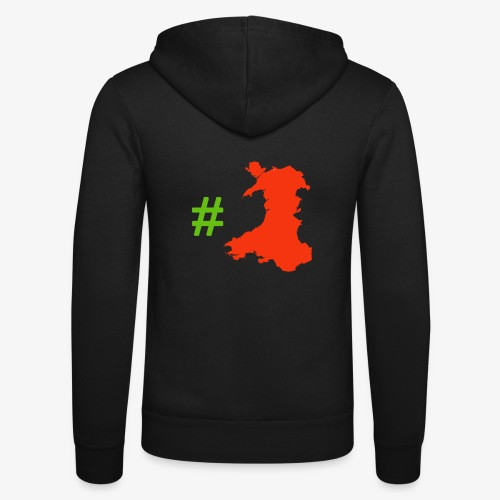 Hashtag Wales - Unisex Hooded Jacket by Bella + Canvas