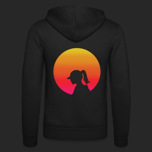 Gradient Girl - Unisex Hooded Jacket by Bella + Canvas
