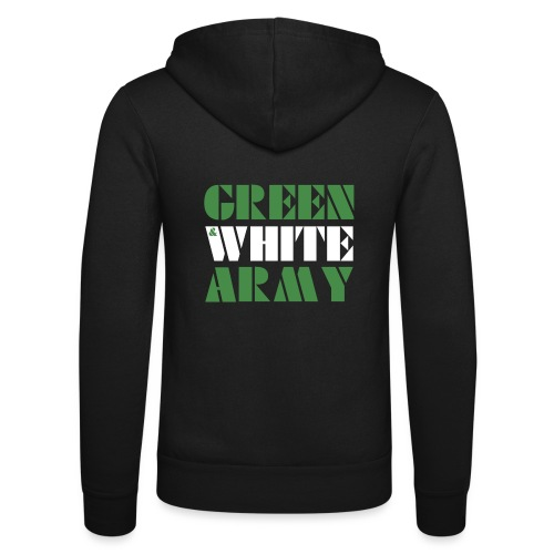 GREEN & WHITE ARMY - Unisex Hooded Jacket by Bella + Canvas