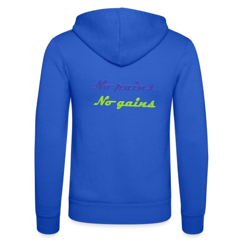 No pains no gains Saying with 3D effect - Unisex Hooded Jacket by Bella + Canvas