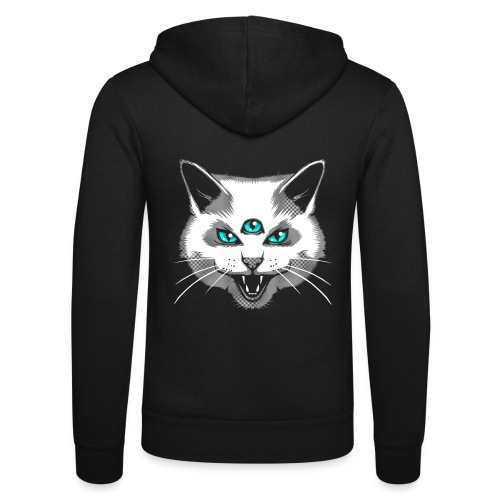 Third Eye Meow - Unisex Hooded Jacket by Bella + Canvas