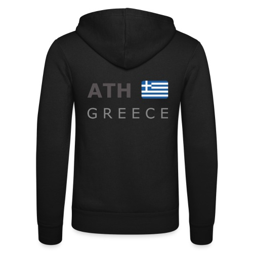 ATH GREECE dark-lettered 400 dpi - Unisex Hooded Jacket by Bella + Canvas