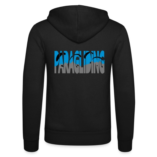 Paragliding Letters - Unisex Hooded Jacket by Bella + Canvas