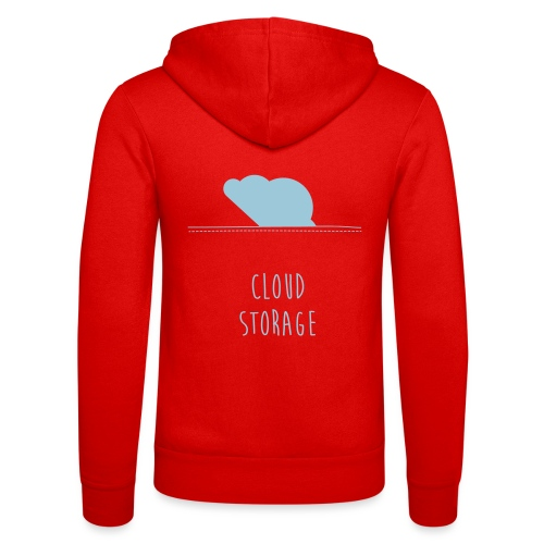 Cloud Storage - Unisex Kapuzenjacke von Bella + Canvas
