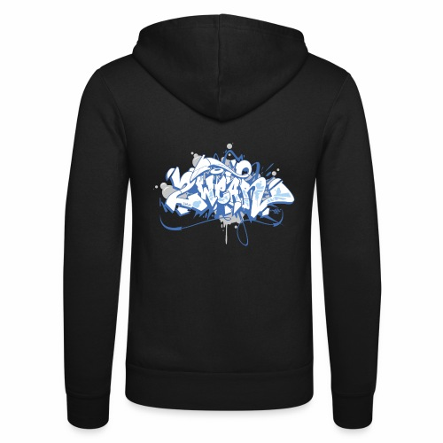 √ Dae 2Wear graffiti style ver01 blue edt. - Unisex hættejakke fra Bella + Canvas