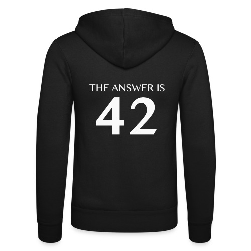 The Answer is 42 White - Unisex Hooded Jacket by Bella + Canvas