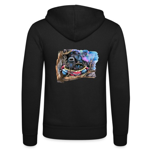owls - Unisex Hooded Jacket by Bella + Canvas