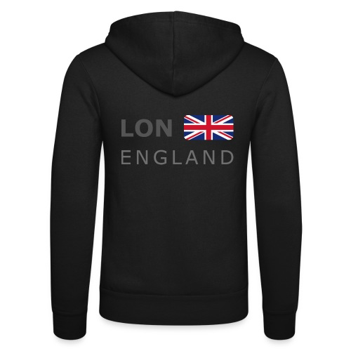 LON ENGLAND BF dark-lettered 400 dpi - Unisex Hooded Jacket by Bella + Canvas