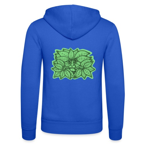 Green Man for Pagan Global Warming/Climate Change - Unisex Hooded Jacket by Bella + Canvas