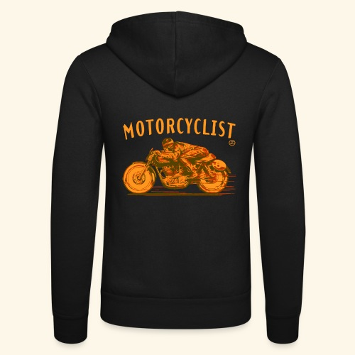 motorcyclist shirt - Unisex Hooded Jacket by Bella + Canvas