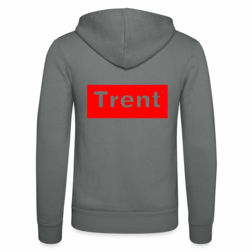 TRENT classic red block - Unisex Hooded Jacket by Bella + Canvas