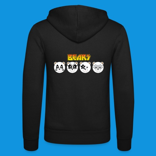 Kiss Bears.png - Unisex Hooded Jacket by Bella + Canvas