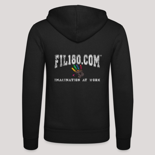 FIL180 Hoody WHITE - Unisex Hooded Jacket by Bella + Canvas
