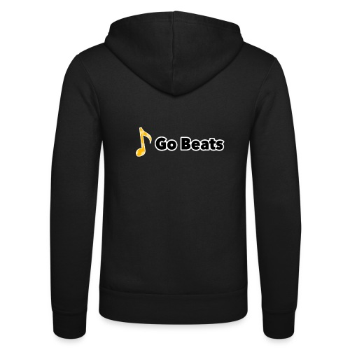 Logo with text - Unisex Hooded Jacket by Bella + Canvas