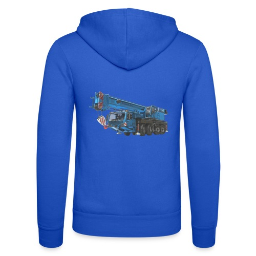 Mobile Crane 4-axle - Blue - Unisex Hooded Jacket by Bella + Canvas