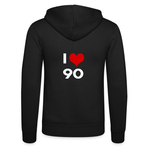 I love 90 - Felpa con cappuccio di Bella + Canvas