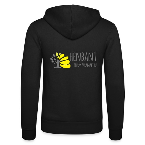 henbant logo - Unisex Hooded Jacket by Bella + Canvas
