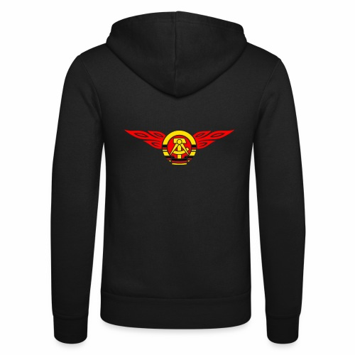 GDR flames crest 3c - Unisex Hooded Jacket by Bella + Canvas