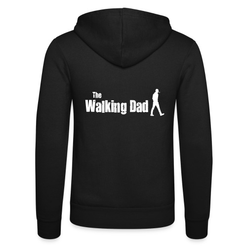 the walking dad white text on black - Unisex Hooded Jacket by Bella + Canvas