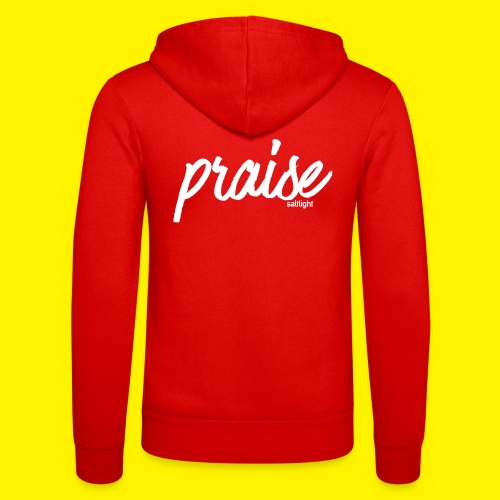 Praise (WHITE) - Unisex Hooded Jacket by Bella + Canvas