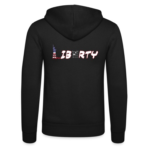 Liberty in a Guitar Chord - Chordword - Unisex Hooded Jacket by Bella + Canvas