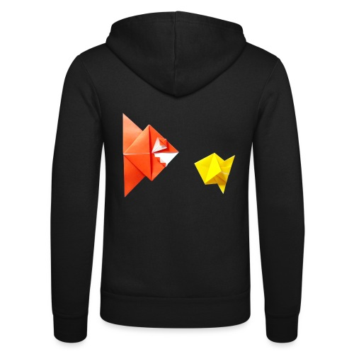 Origami Piranha and Fish - Fish - Pesce - Peixe - Unisex Hooded Jacket by Bella + Canvas