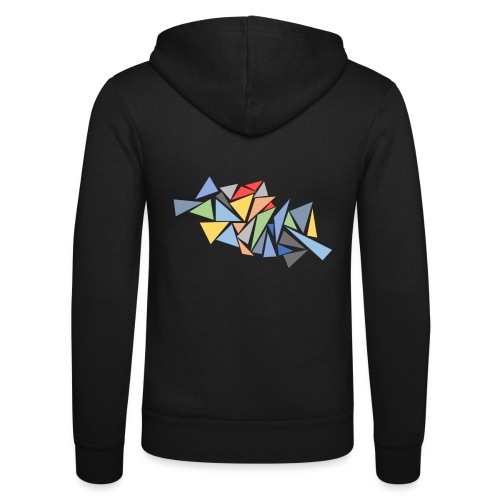 Modern Triangles - Unisex Hooded Jacket by Bella + Canvas