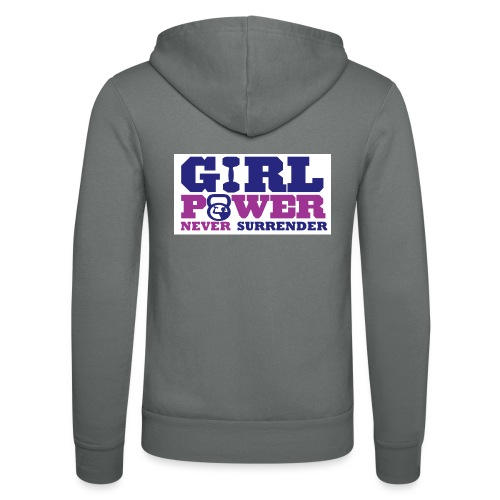 GIRL POWER NEVER surrender 01 - Nuestra chaqueta con capucha de Bella + Canvas