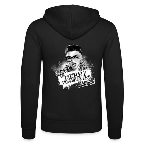 The Merry Pranksters Standard - Black T-Shirt - Unisex Hooded Jacket by Bella + Canvas