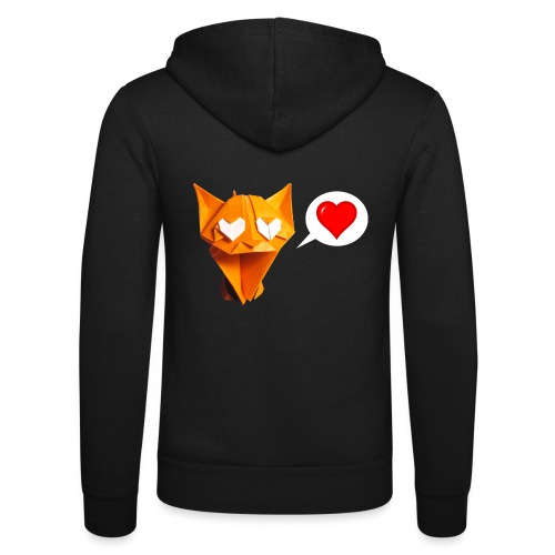 Adorable Cat Origami - Cat - Gato - Gatto - Katze - Unisex Hooded Jacket by Bella + Canvas