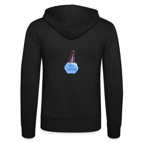 The Dog of Wisdom! - Unisex Hooded Jacket by Bella + Canvas