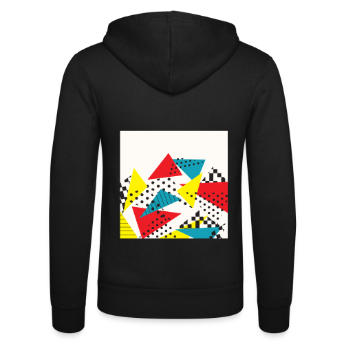 Abstract vintage collage - Unisex Hooded Jacket by Bella + Canvas