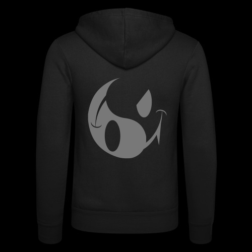 smiley yin yang - Unisex Hooded Jacket by Bella + Canvas