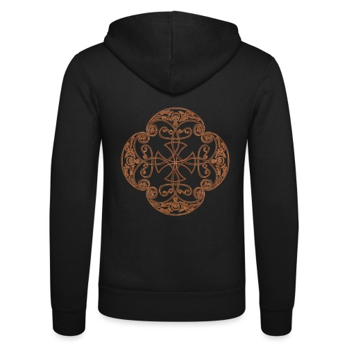 Anglian gold (Mellowed) - Unisex Hooded Jacket by Bella + Canvas