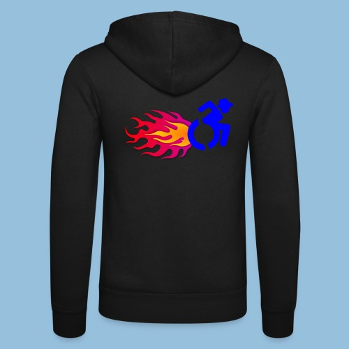 Wheelchair with flames 012 - Unisex hoodie van Bella + Canvas