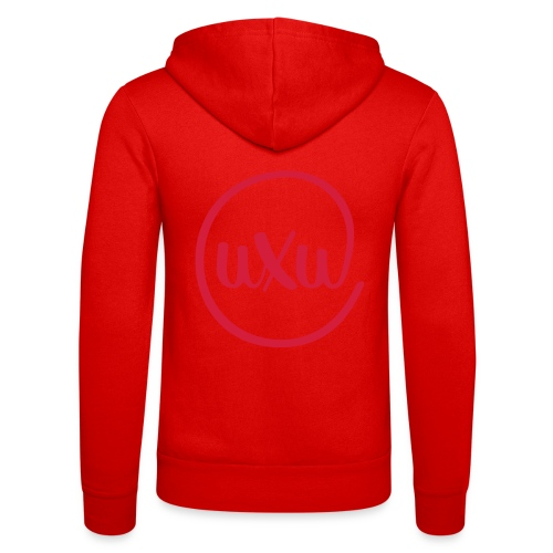 UXU logo round - Unisex Hooded Jacket by Bella + Canvas